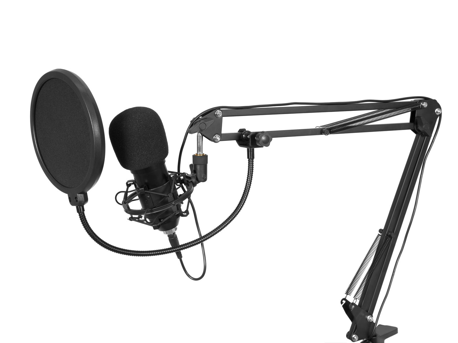 OMNITRONIC BMS-1C USB Kondensator-Broadcastmikrofonset