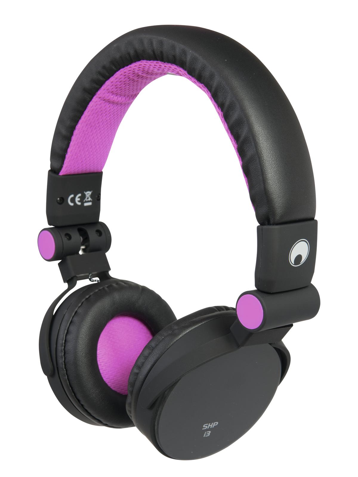 Cuffie per Dj stereo dinamiche pieghevoli headphones SHP-i3 Rosa