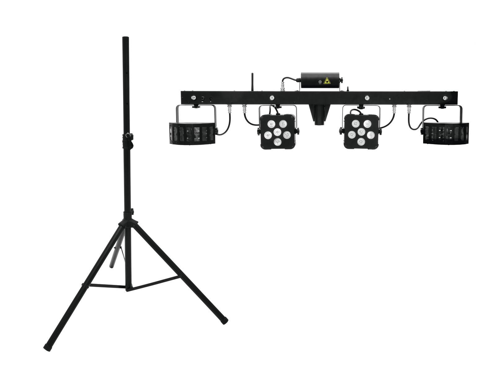 EUROLITE LED di Set KLS Laser Bar PRO FX + M-2 Altoparlanti-sistema di stand