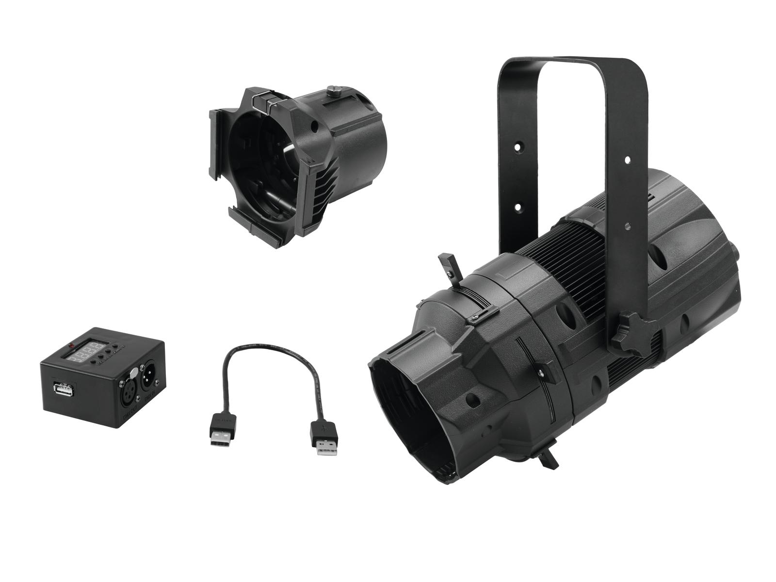 EUROLITE LED di Set PFE-50 + Lente di tubo 19° + Interfaccia DMX
