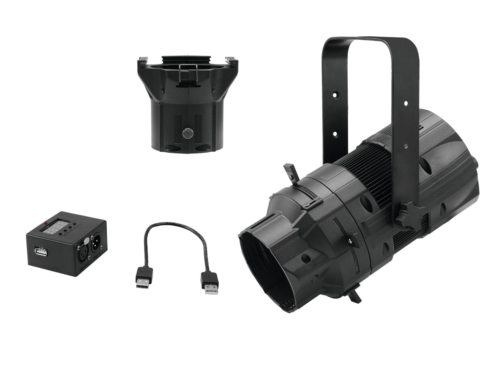 EUROLITE LED di Set PFE-50 + Lente di tubo 36° + Interfaccia DMX