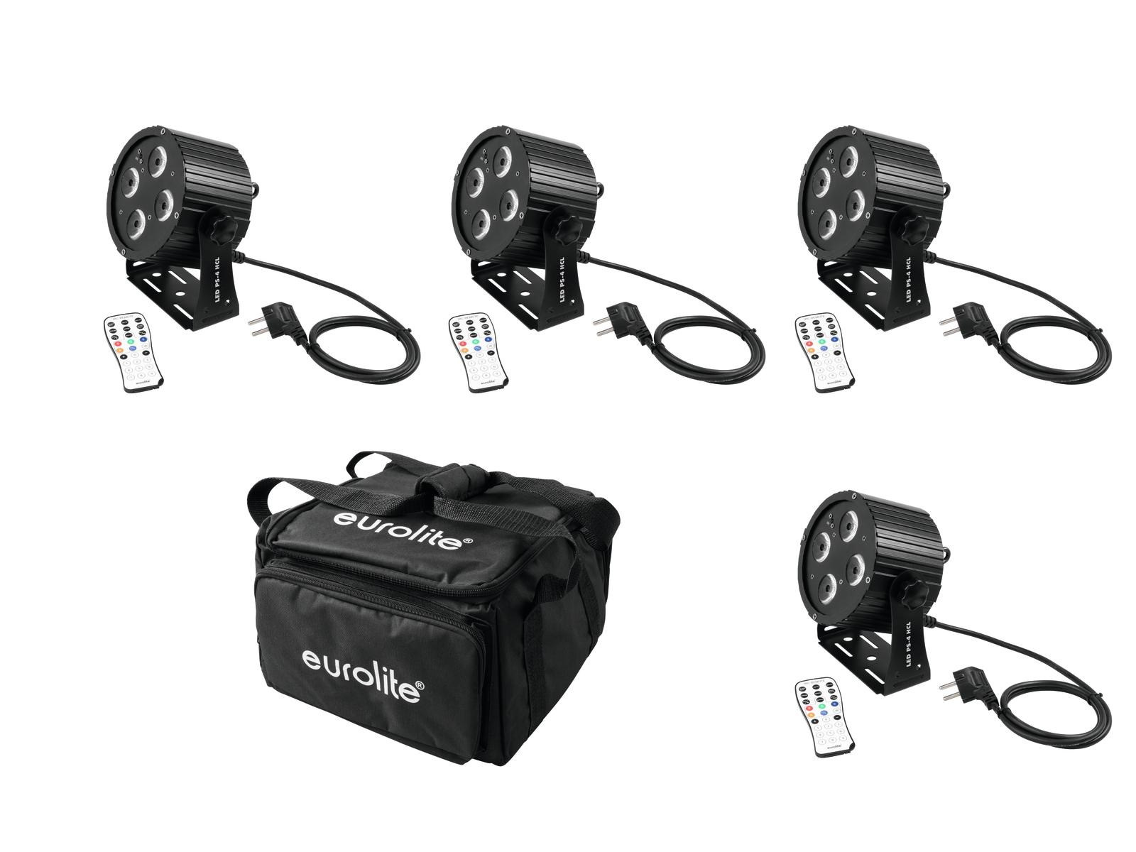 EUROLITE Set 4x LED PS-4 HCL S