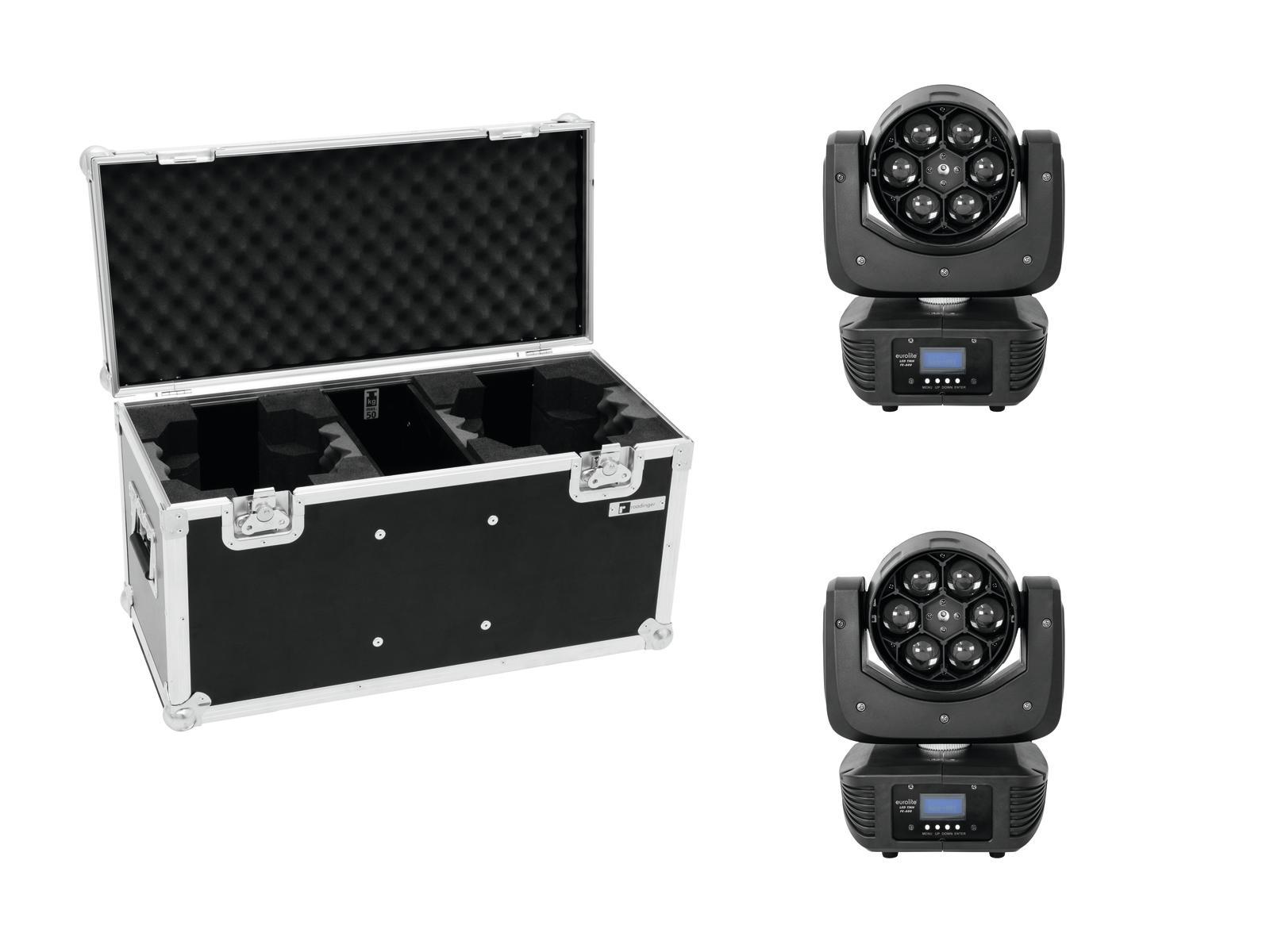 EUROLITE Set 2x LED TMH FE-300 Beam/Fiore effetto + Caso
