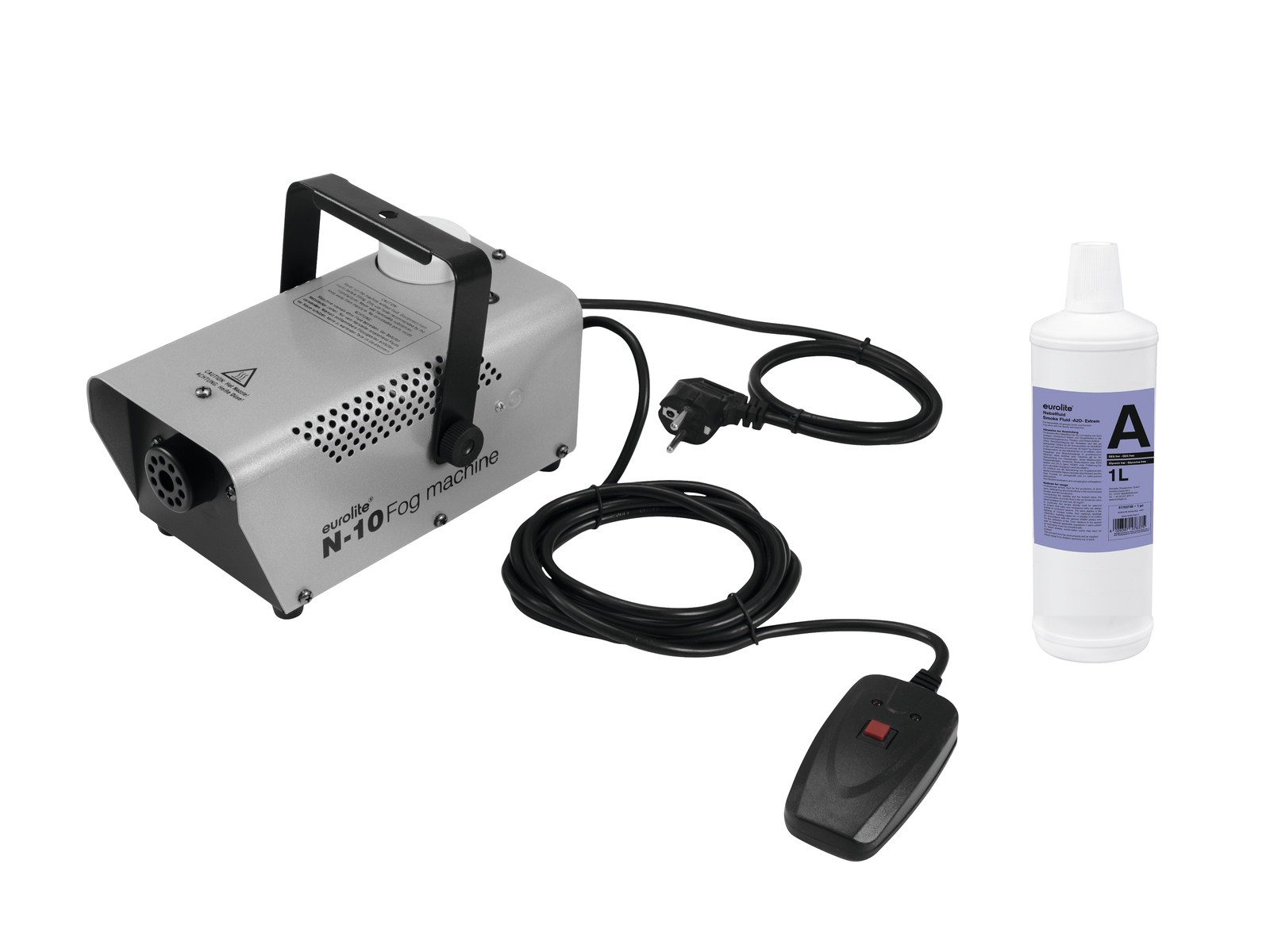 EUROLITE N Set-10 macchina del Fumo + A2D Azione di fumo liquido 1l
