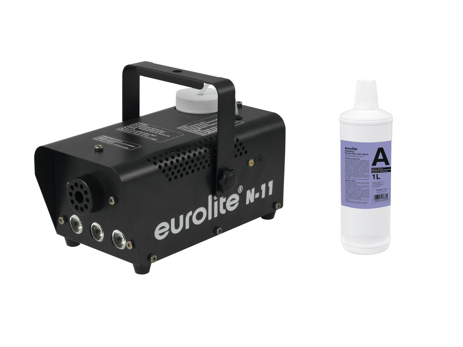 EUROLITE N Set-11 LED Hybrid ambra macchina della nebbia + A2D Azione con gusto e stan