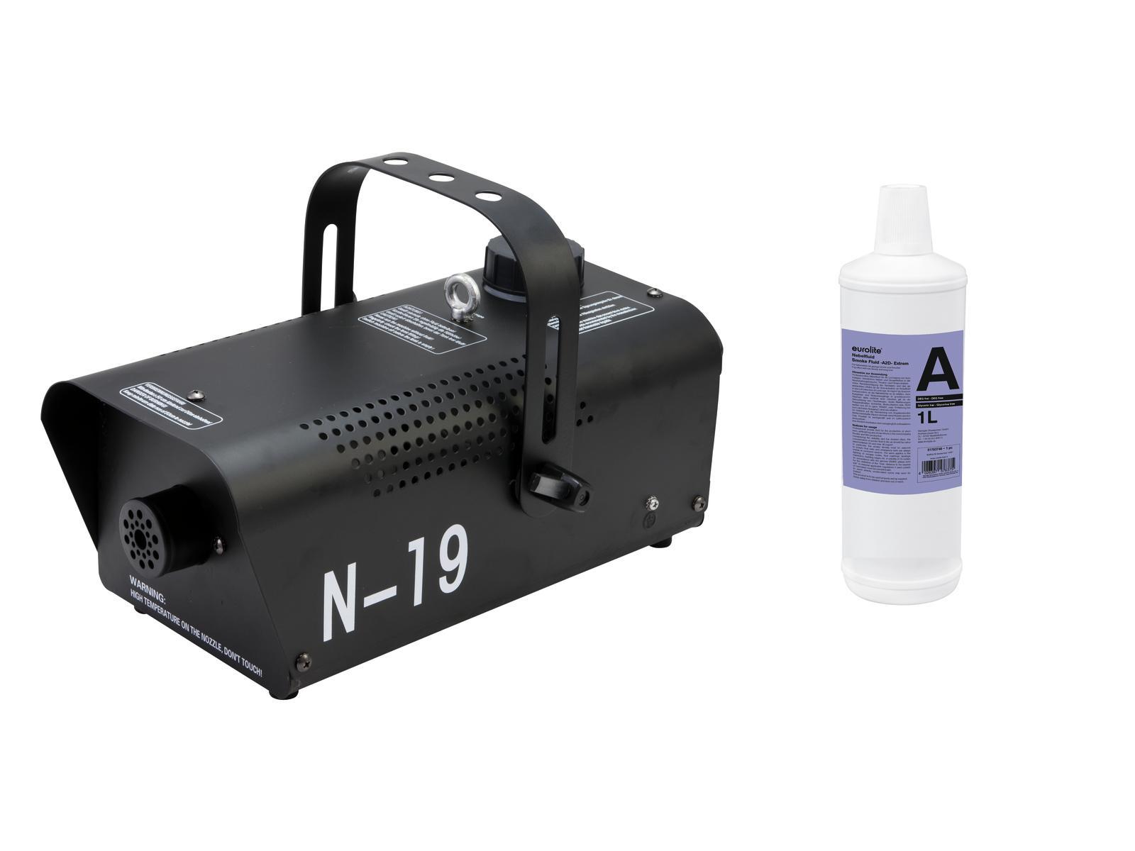 EUROLITE N Set-19 macchina del Fumo nero + A2D Azione del fluido fumo 1