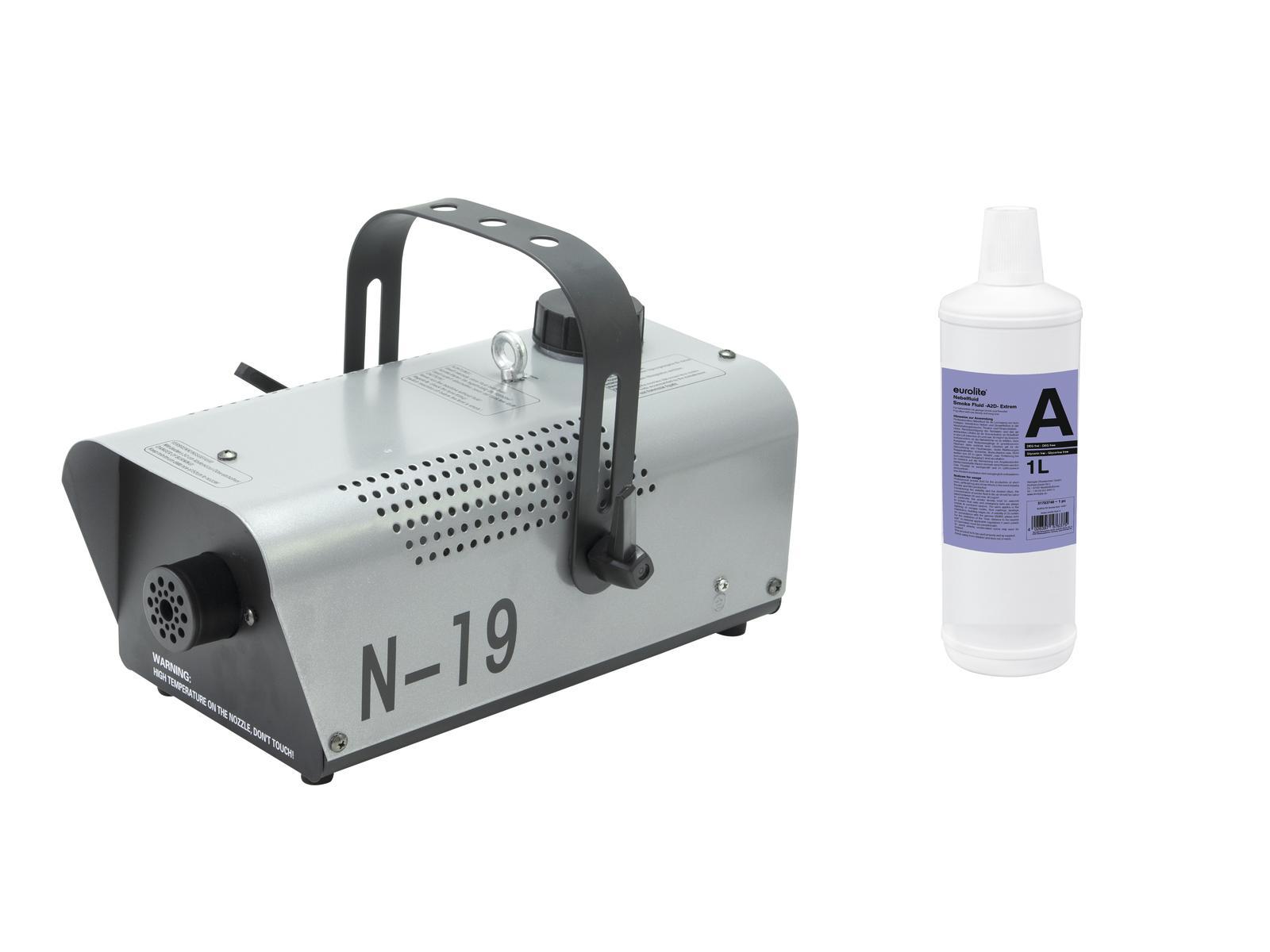 EUROLITE N Set-19 macchina del Fumo argento + A2D Azione di fumo liquido