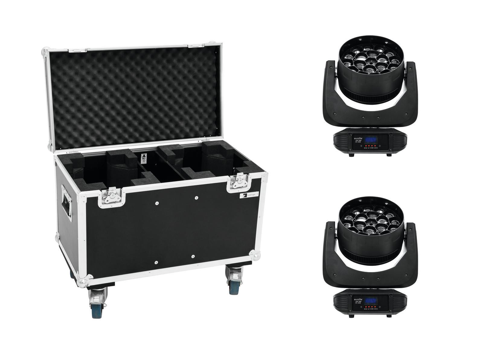 EUROLITE Set 2x LED TMH FE-1800 + Caso
