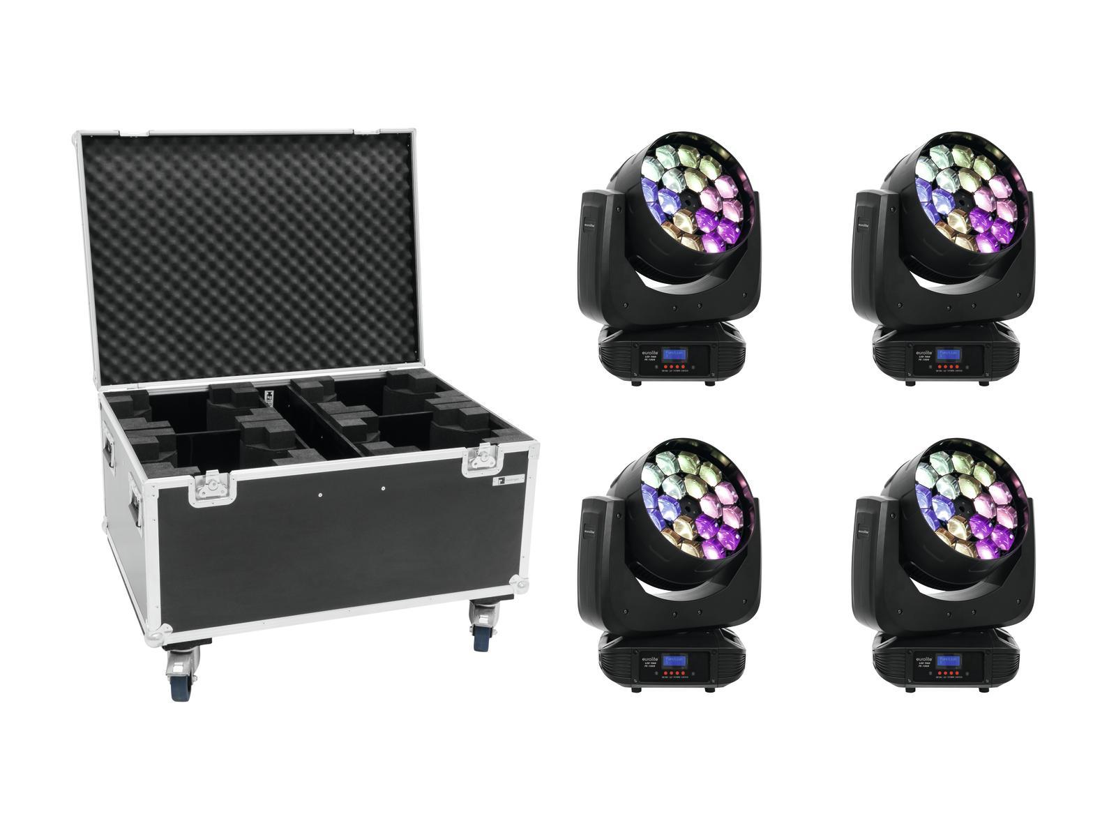 EUROLITE Set 4x LED TMH FE-1800 + Caso