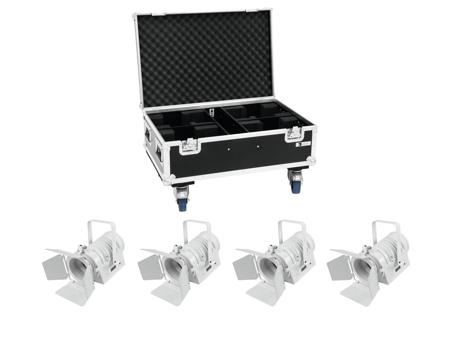 EUROLITE Set 4x LED THA-40PC ws + Case