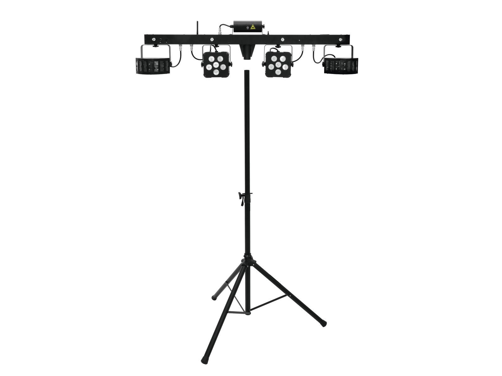 EUROLITE LED di Set KLS Laser Bar PRO FX + M-3 Altoparlanti-sistema di stand