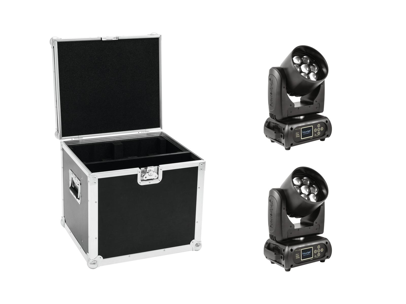 EUROLITE Set 2x OCCHIO-7 led RGBW Zoom + Caso