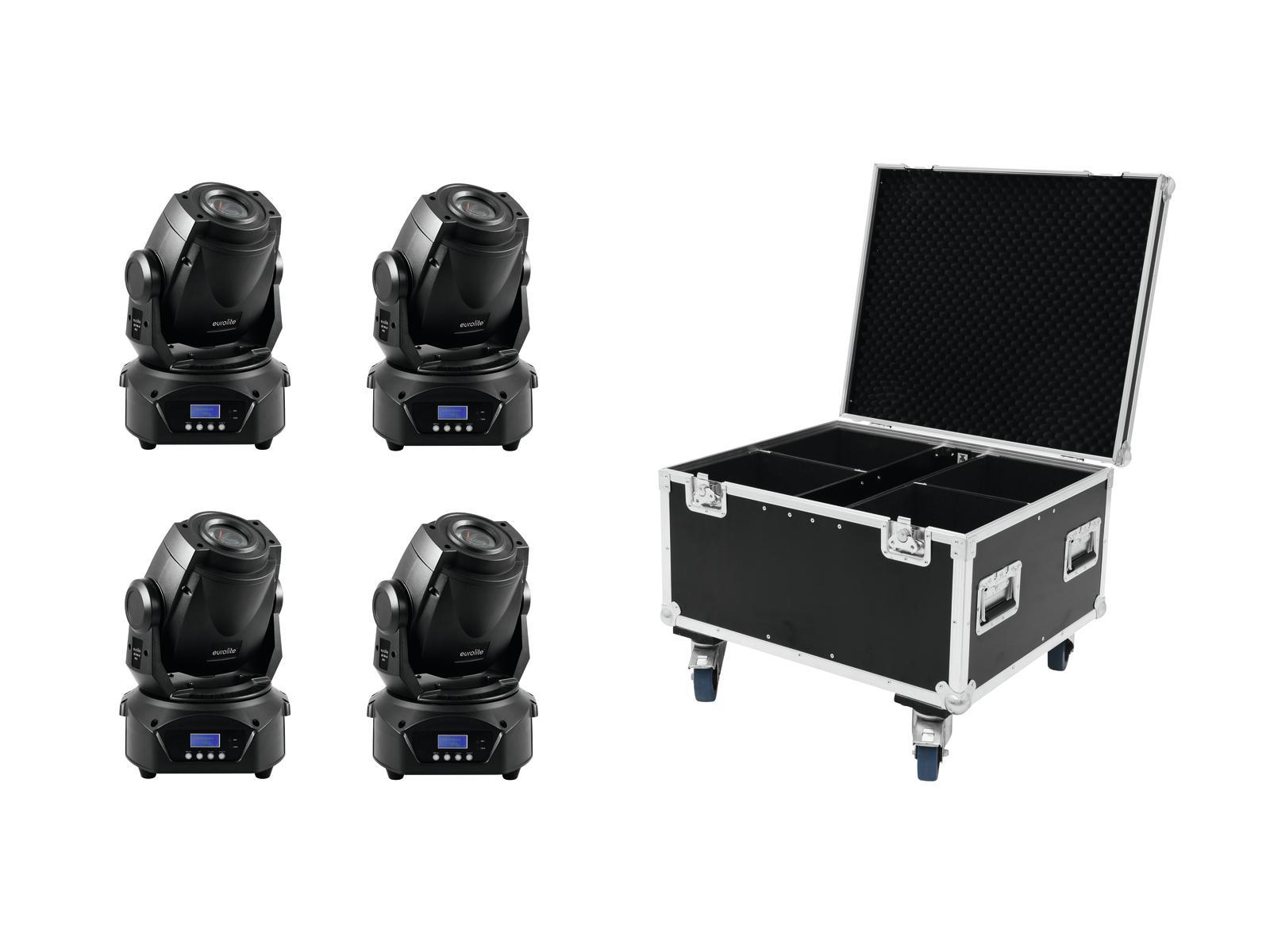 EUROLITE Set 4x LED TMH-60 MK2 + Case