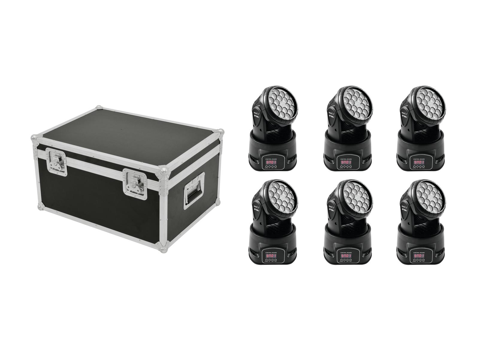 EUROLITE Set 6x LED TMH-7 + Case