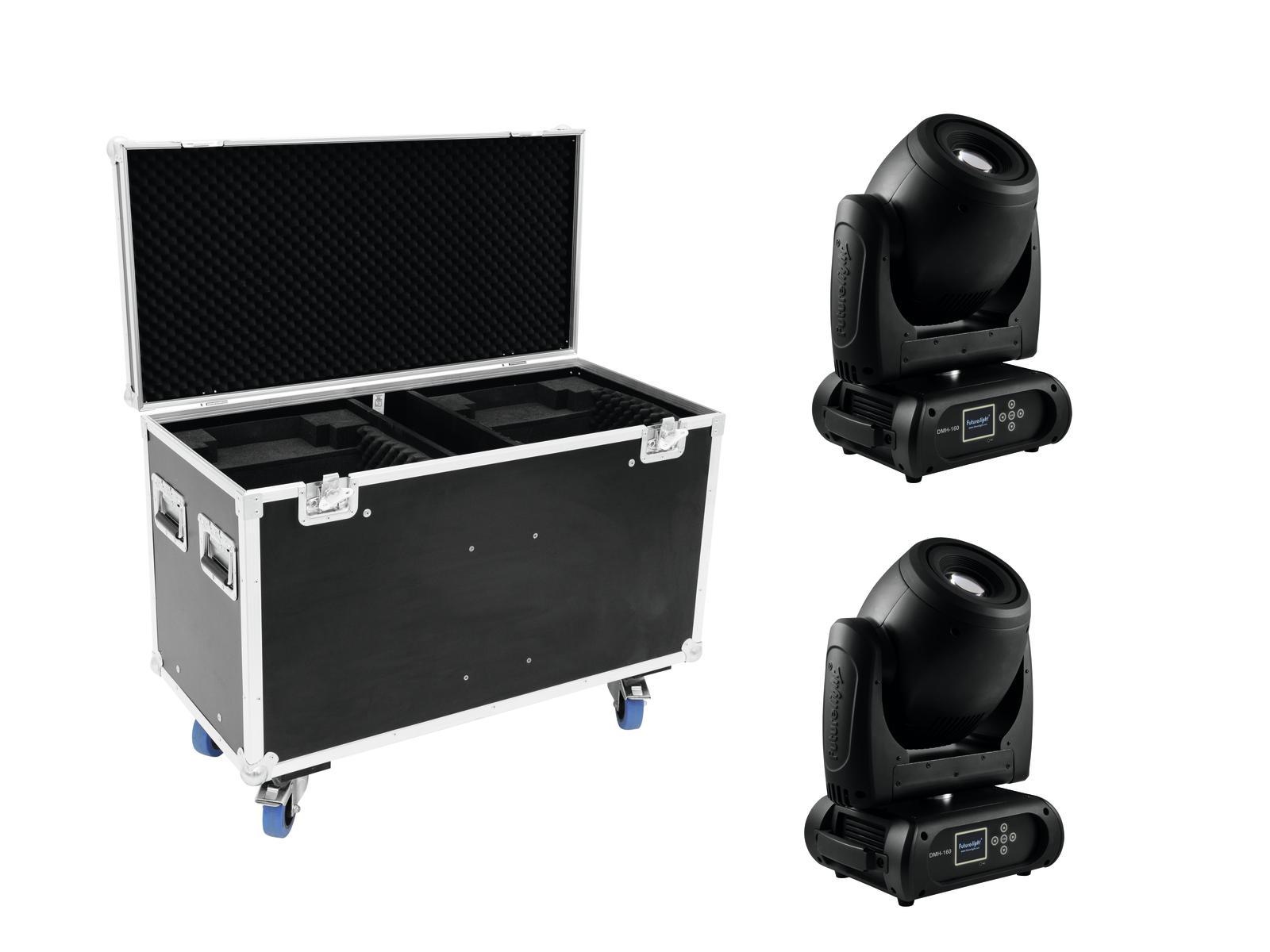 FUTURELIGHT Set 2x DMH-160 LED Moving-Head + Caso