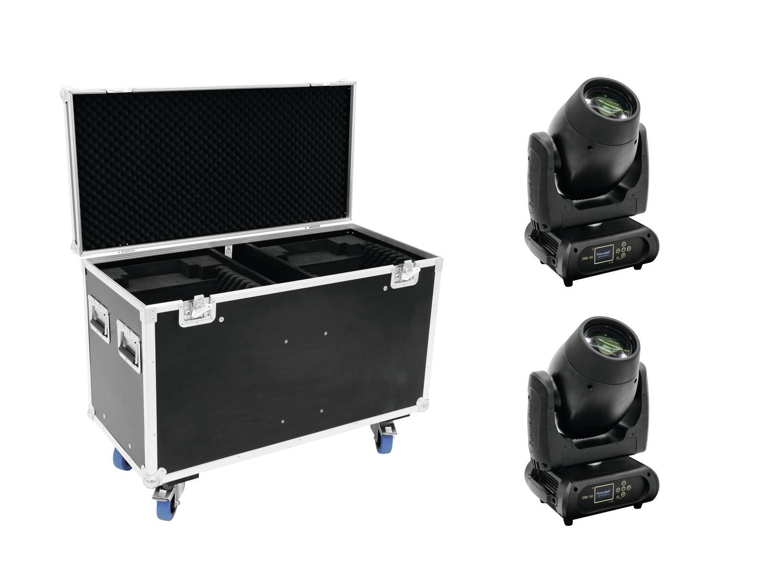 FUTURELIGHT Set 2x DMB-160 LED Moving-Head + Caso