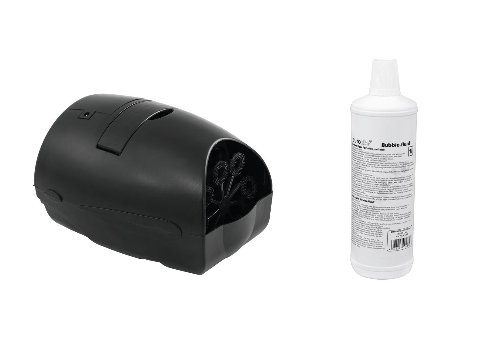 EUROLITE Set B-55 Seifenblasenmaschine + Seifenblasenfluid 1l