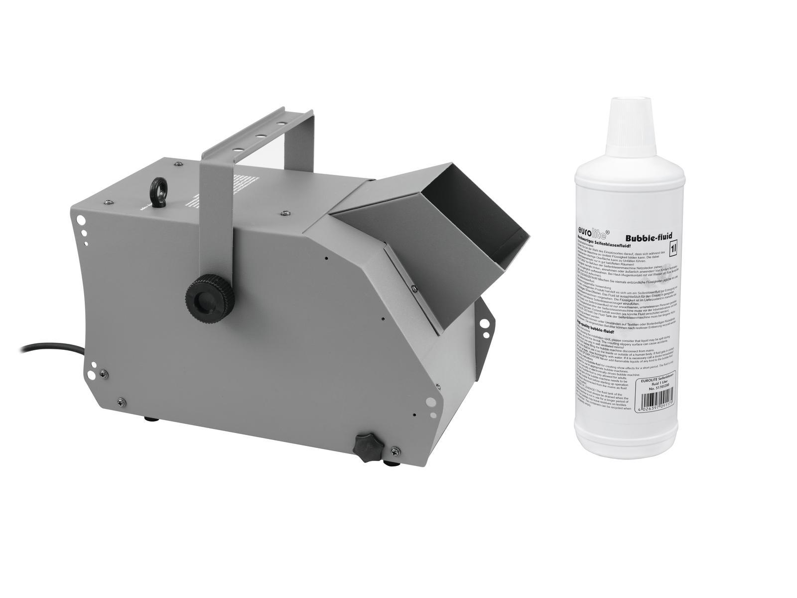 Macchina effetto bolle di sapone Dmx con fluido 1LT wireless EUROLITE Set BW-100