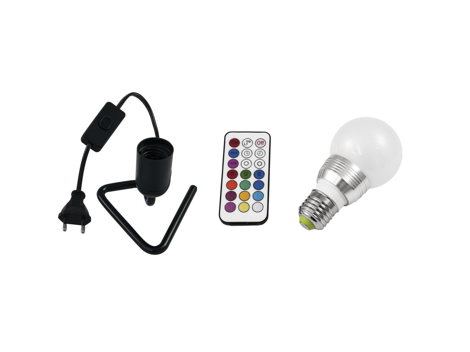 EUROLITE LED di Set A60 230V 5W E27 multicolore RC + Triangolo di base b
