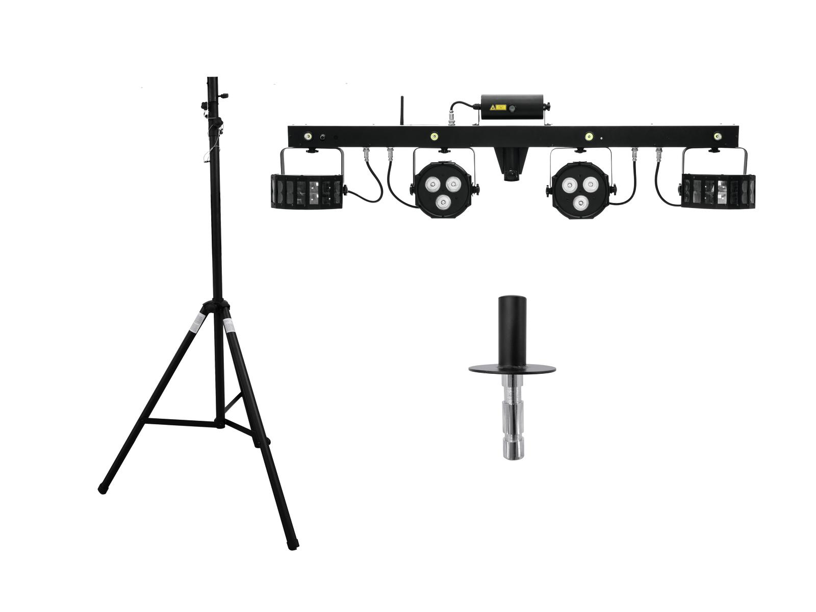 EUROLITE LED di Set KLS Laser Bar FX + STV-40-WOT supporto in Alluminio