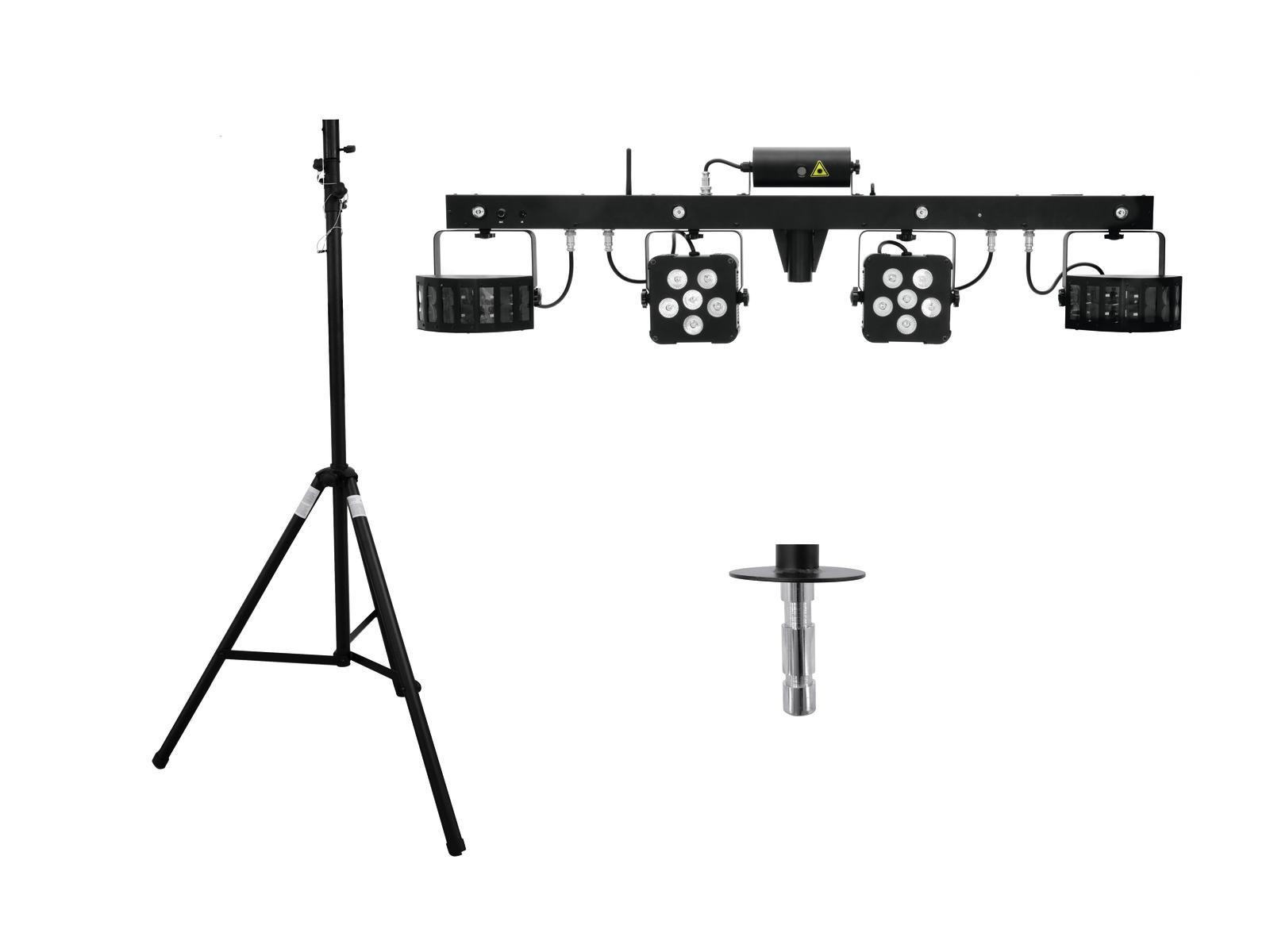 EUROLITE LED di Set KLS Laser Bar PRO + STV-40-WOT supporto in Alluminio
