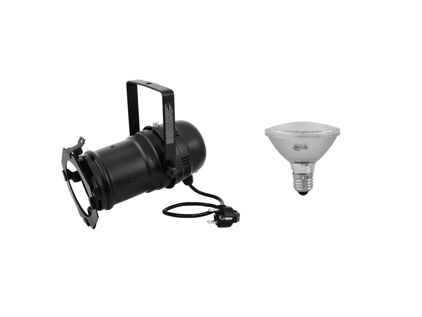 EUROLITE Impostare PAR-30 Spot bk + PAR-30 230V SMD 11W E-27 LED 3000K