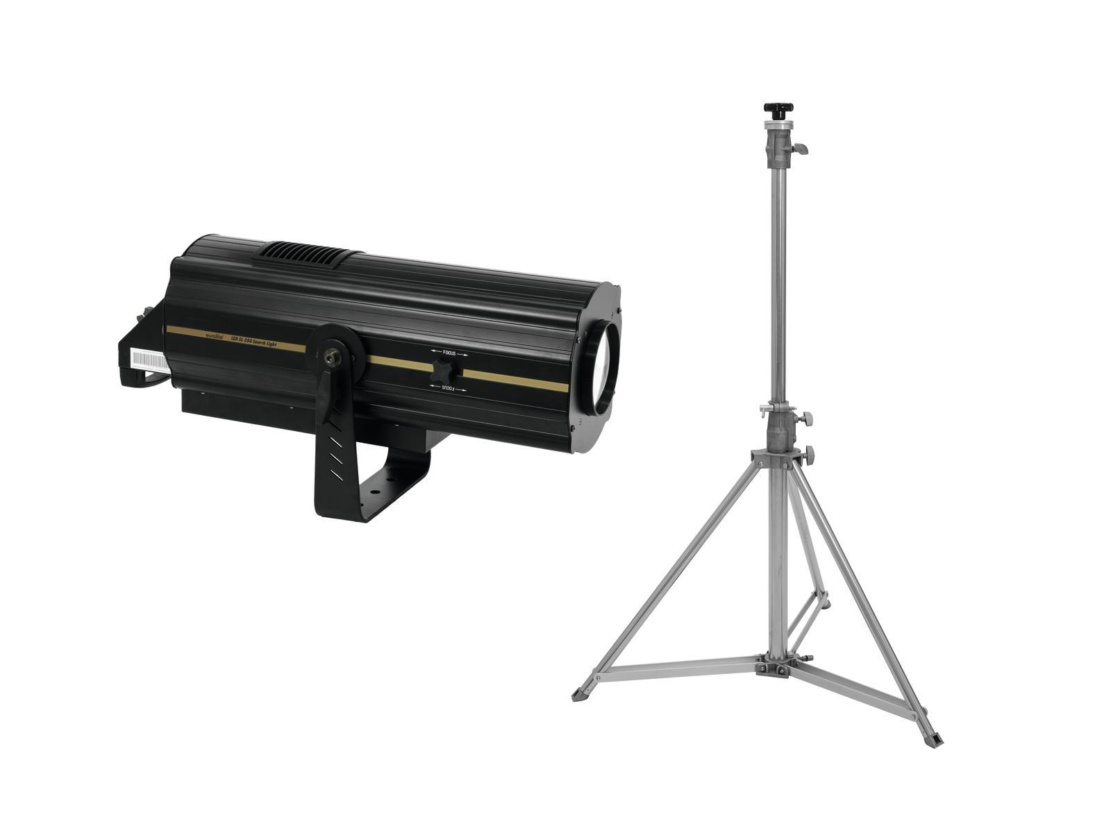 EUROLITE Set LED SL-350 Search Light + STV-200 Verfolgerstativ, Edelstahl