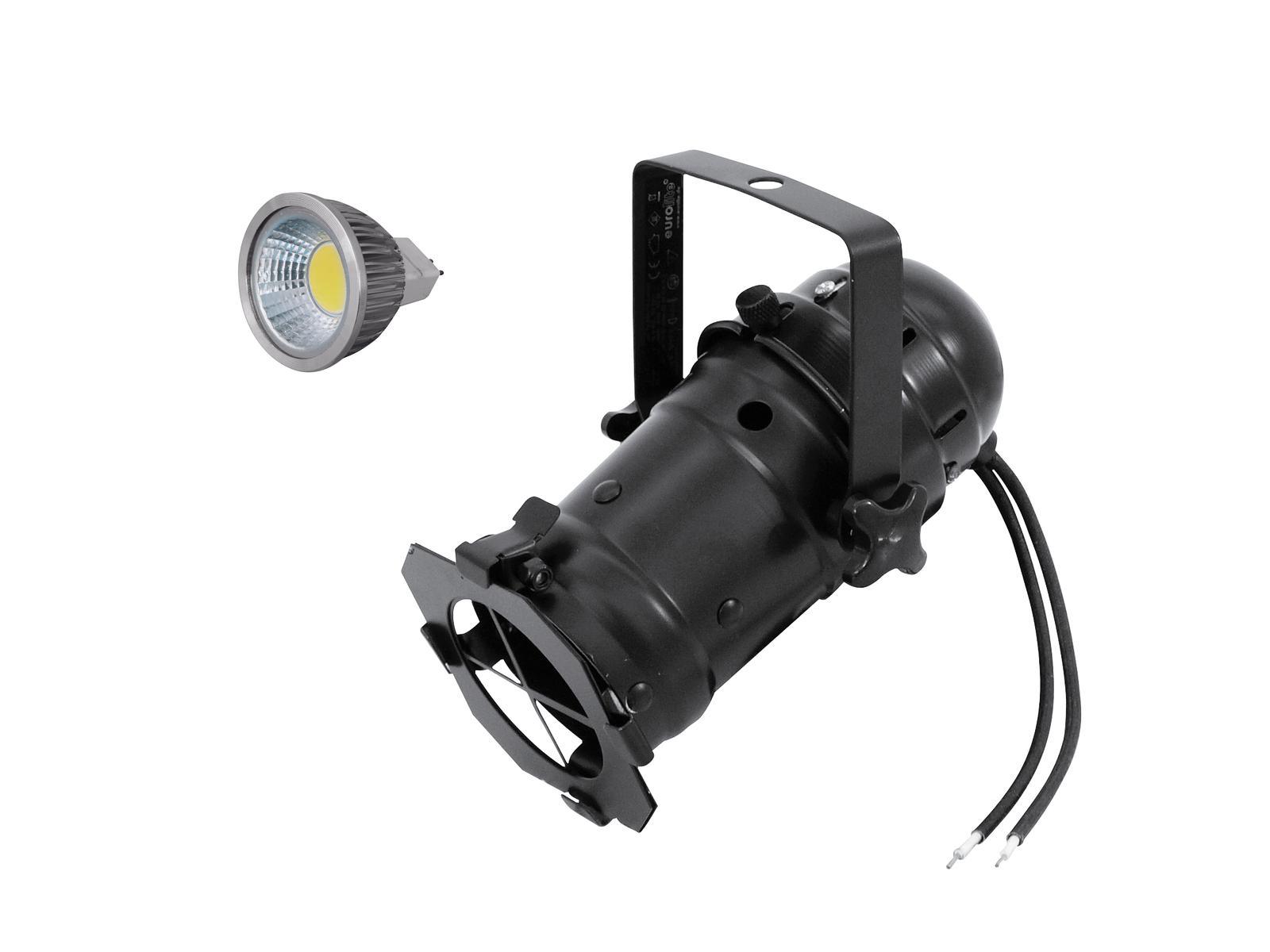 EUROLITE Impostare PAR-16 Spot bk + MR-16 12V GX-5,3 5W COB LED 6400K