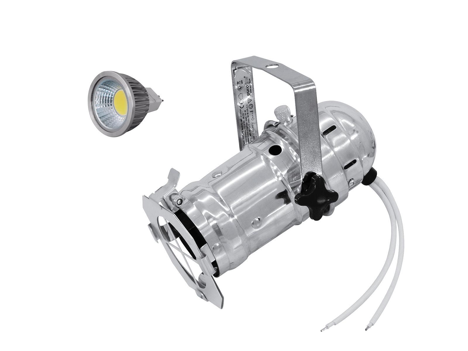 EUROLITE Impostare PAR-16 Spot sil + MR-16 12V GX-5,3 5W COB LED 3000K