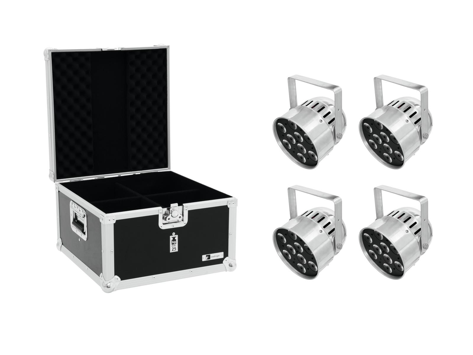 EUROLITE Set 4x LED PAR-56 QCL Short sil + EPS Case
