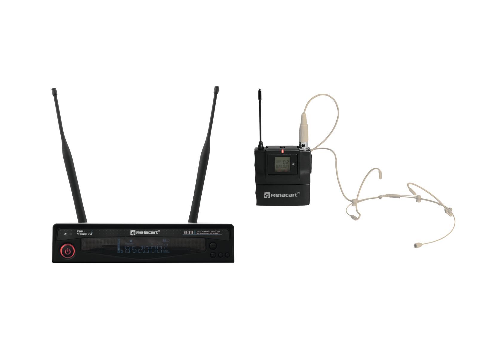 RELACART Set HR-31S Bodypack mit Headset