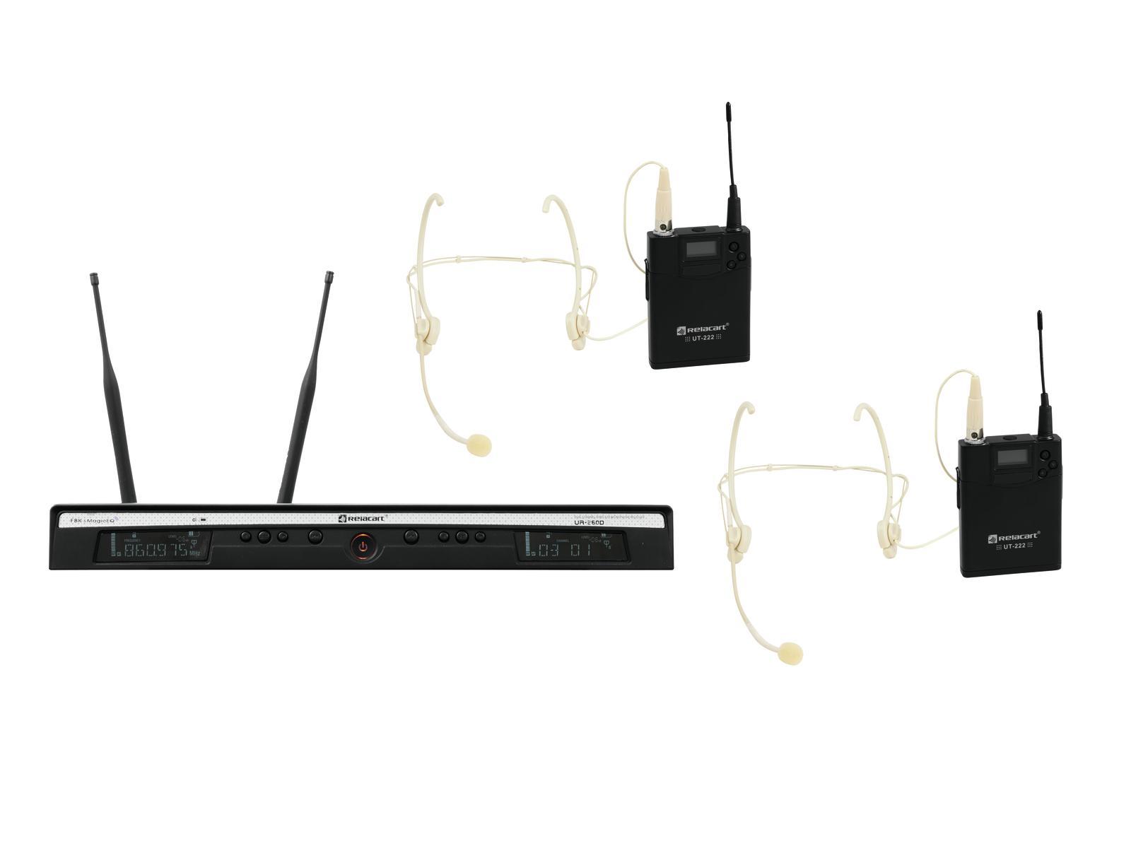 RELACART Set UR-260D Bodypack con Auricolare