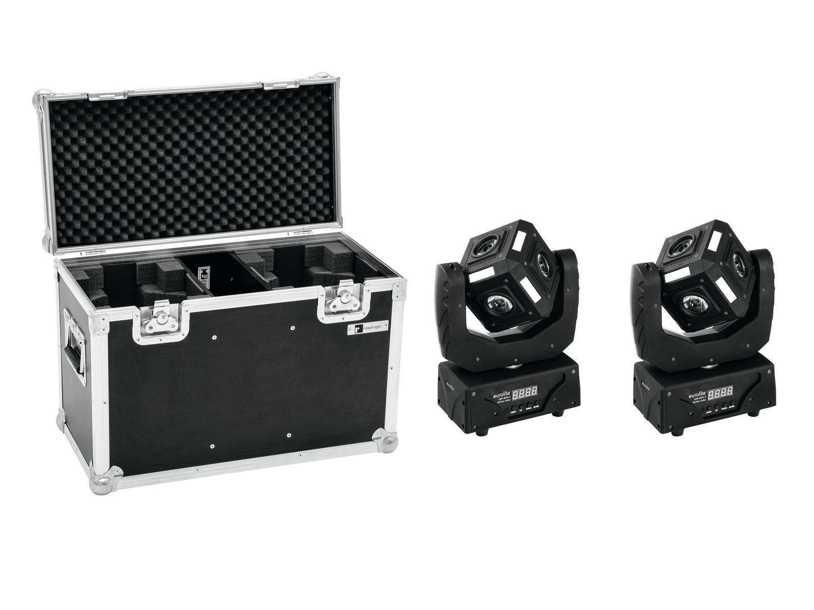 EUROLITE Set 2x LED MFX-Azione 3 Cubo + Caso