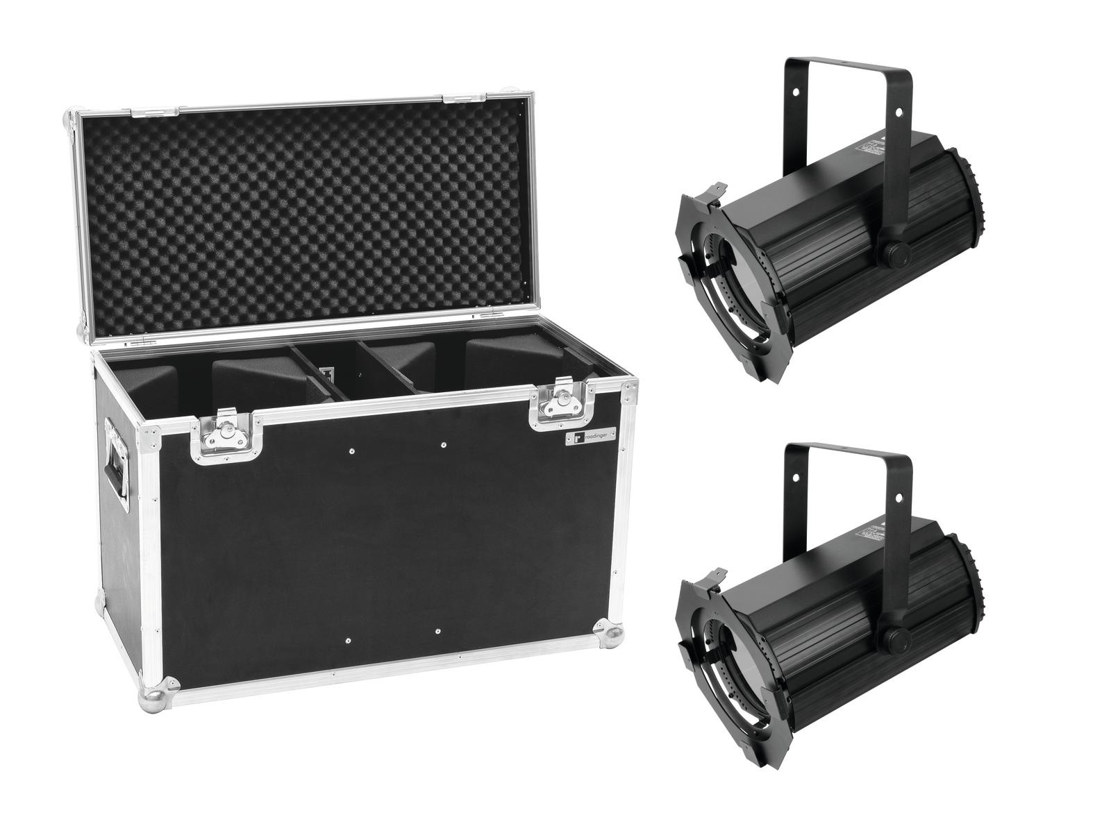 EUROLITE Set 2x LED THA-100F MK2 Theater-Spot + Case