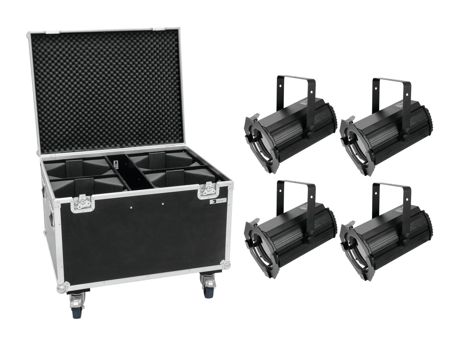 EUROLITE Set 4x LED THA-100F MK2 Theater-Spot + Case