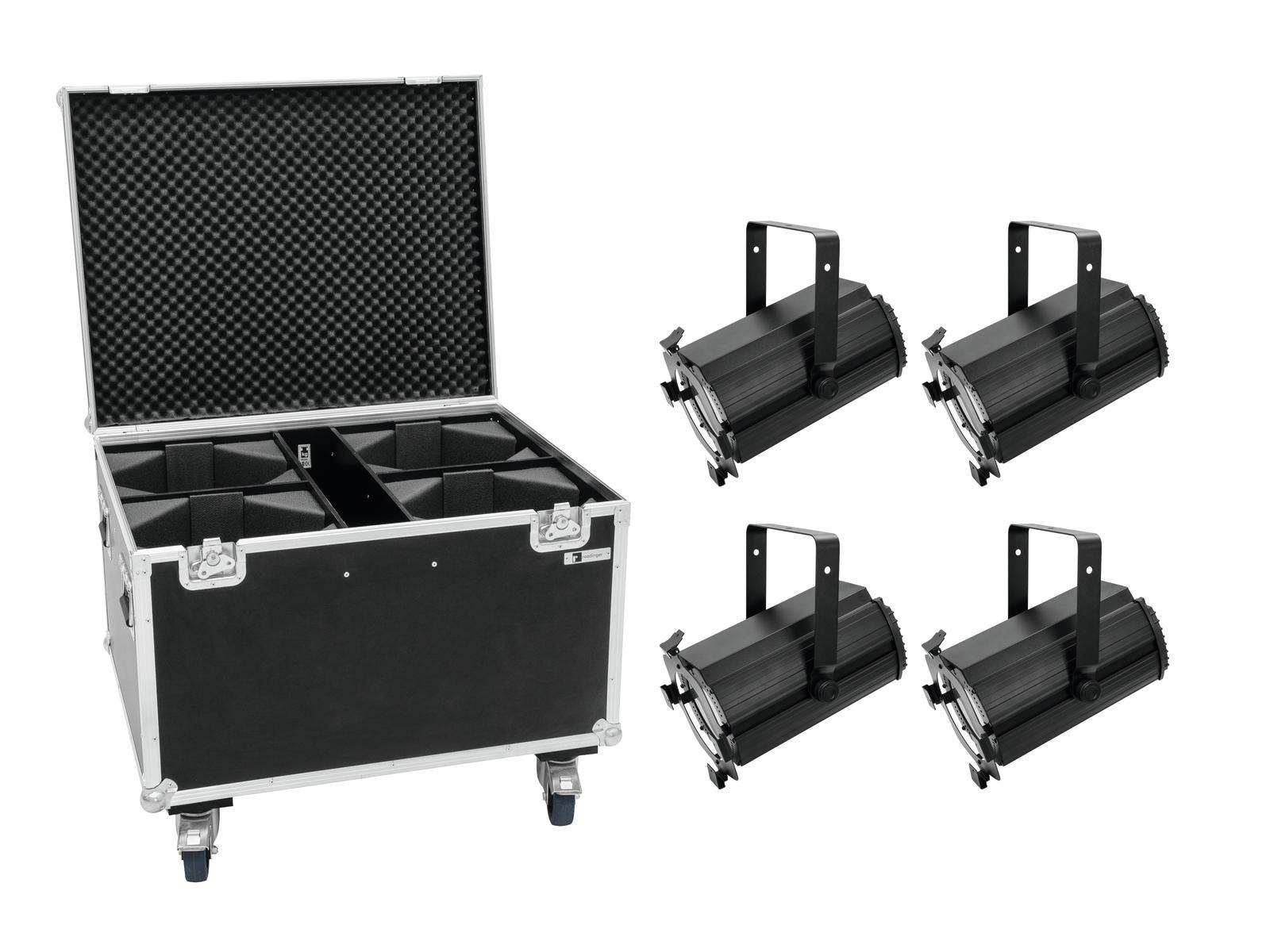 EUROLITE Set 4x LED THA-120PC Theater-Spot + Case