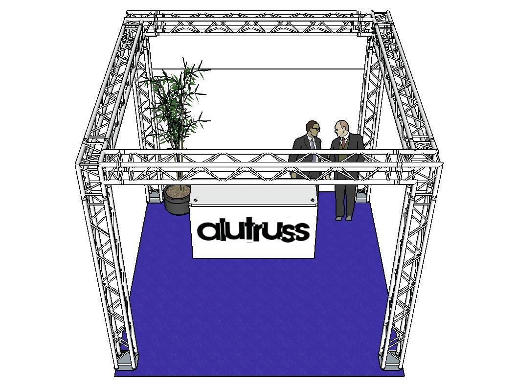 ALUTRUSS Traversenset QUADLOCK 6082 Quadrat 4x4x3,5m (BxTxH)