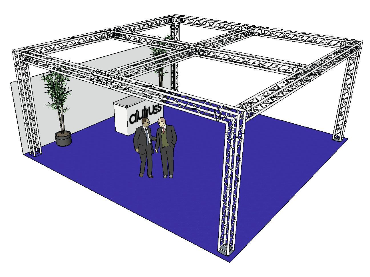 ALUTRUSS Capriata set QUADLOCK 6082 piazza 7.71x7.71x3.5m (Lxpxh)