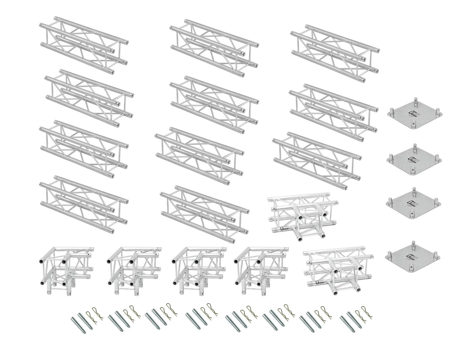 ALUTRUSS Traversenset QUADLOCK 6082 Rechteck 7,71x4x3,5m (BxTxH)