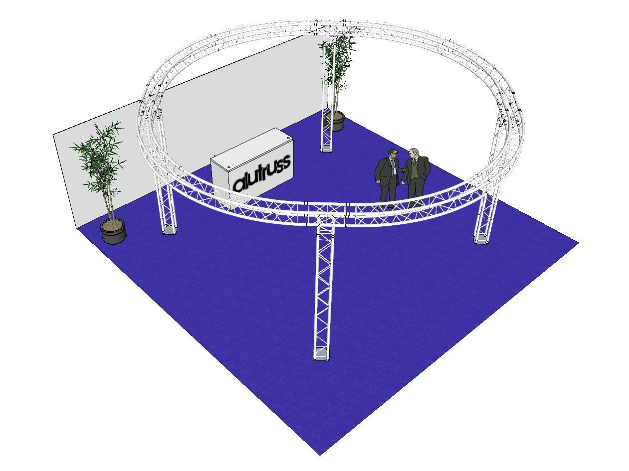 ALUTRUSS Capriata set QUADLOCK 6082 cerchio 6.6x3.5m
