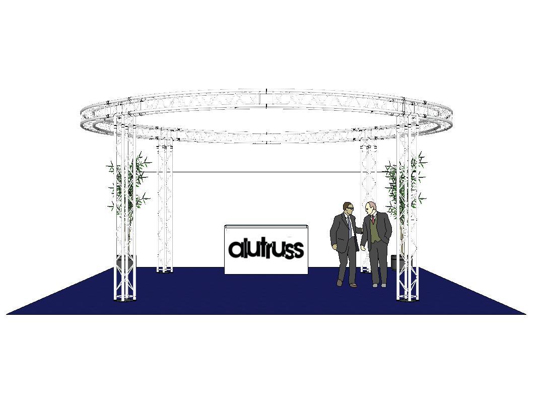 ALUTRUSS Traversenset QUADLOCK 6082 Kreis 6,6x3,5m