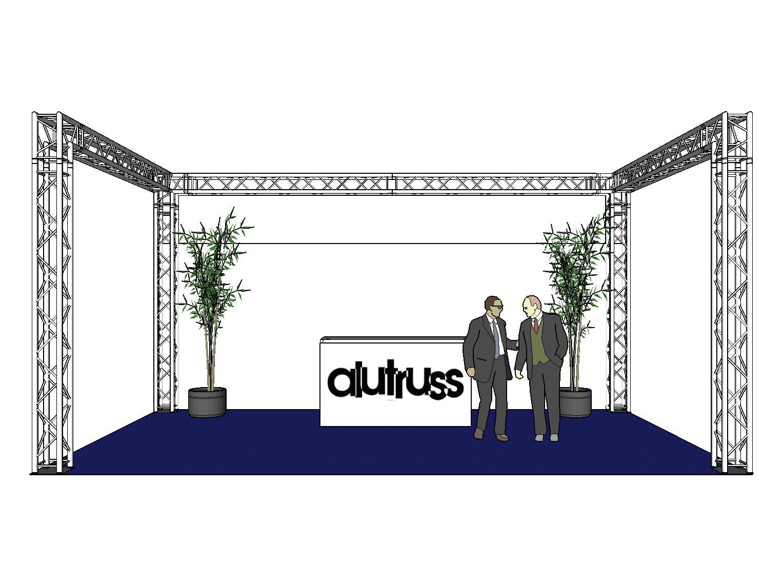 ALUTRUSS Traversenset QUADLOCK 6082 U-Form 7x4x3,5m (BxTxH)