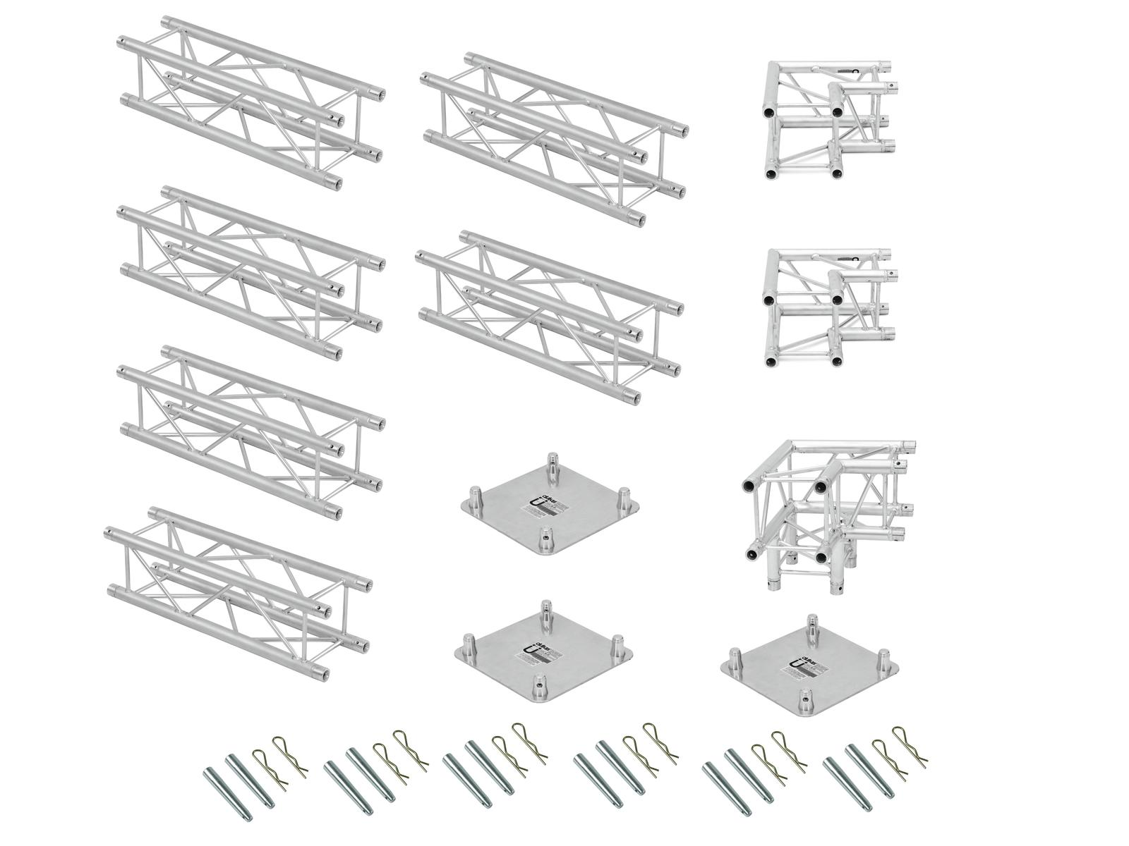 ALUTRUSS Traversenset QUADLOCK 6082 L-Form 7x4x3,5m (BxTxH)