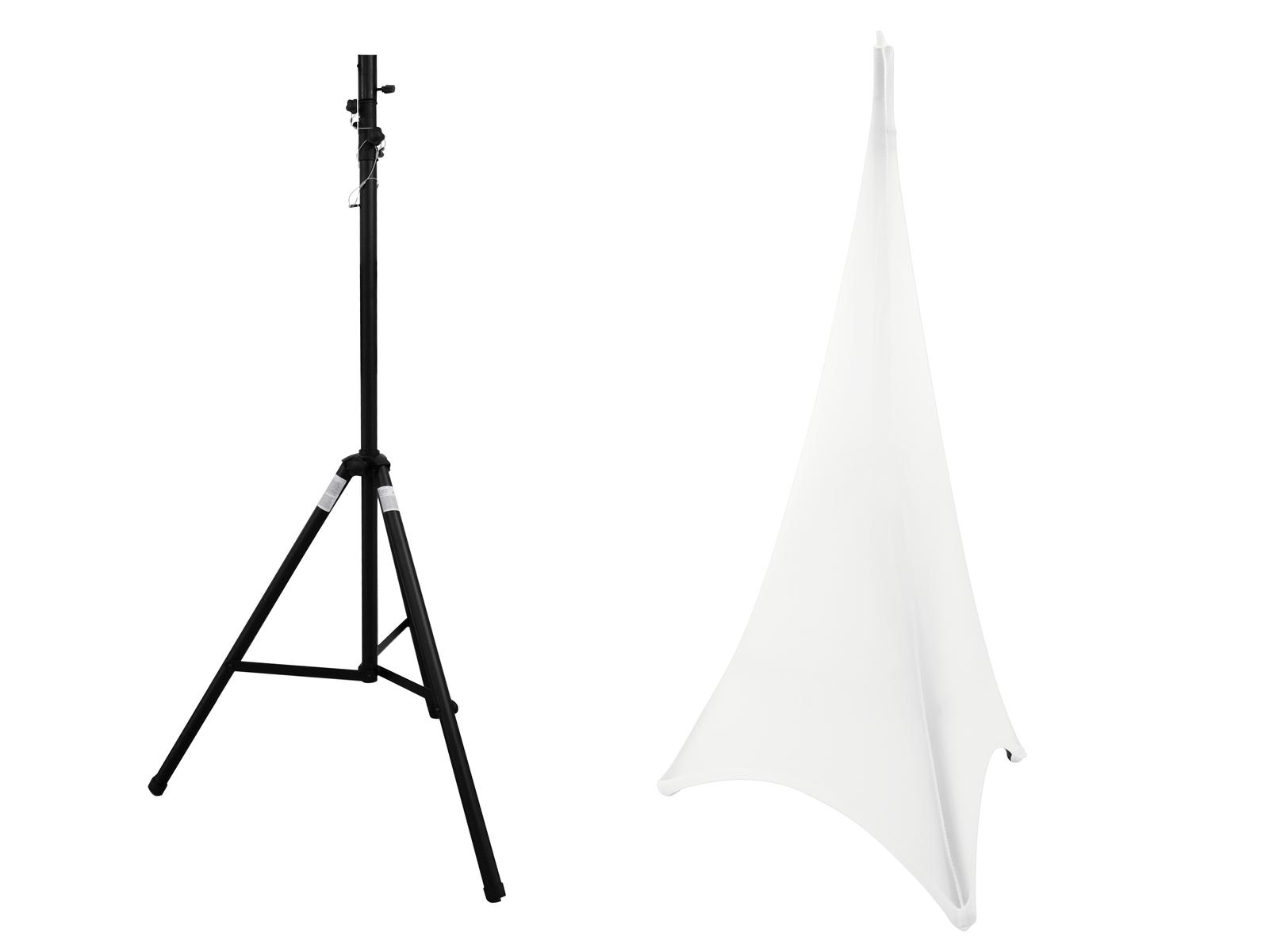 EUROLITE Set STV-40-WOT supporto in Acciaio + Cavalletto Coperchio bianco