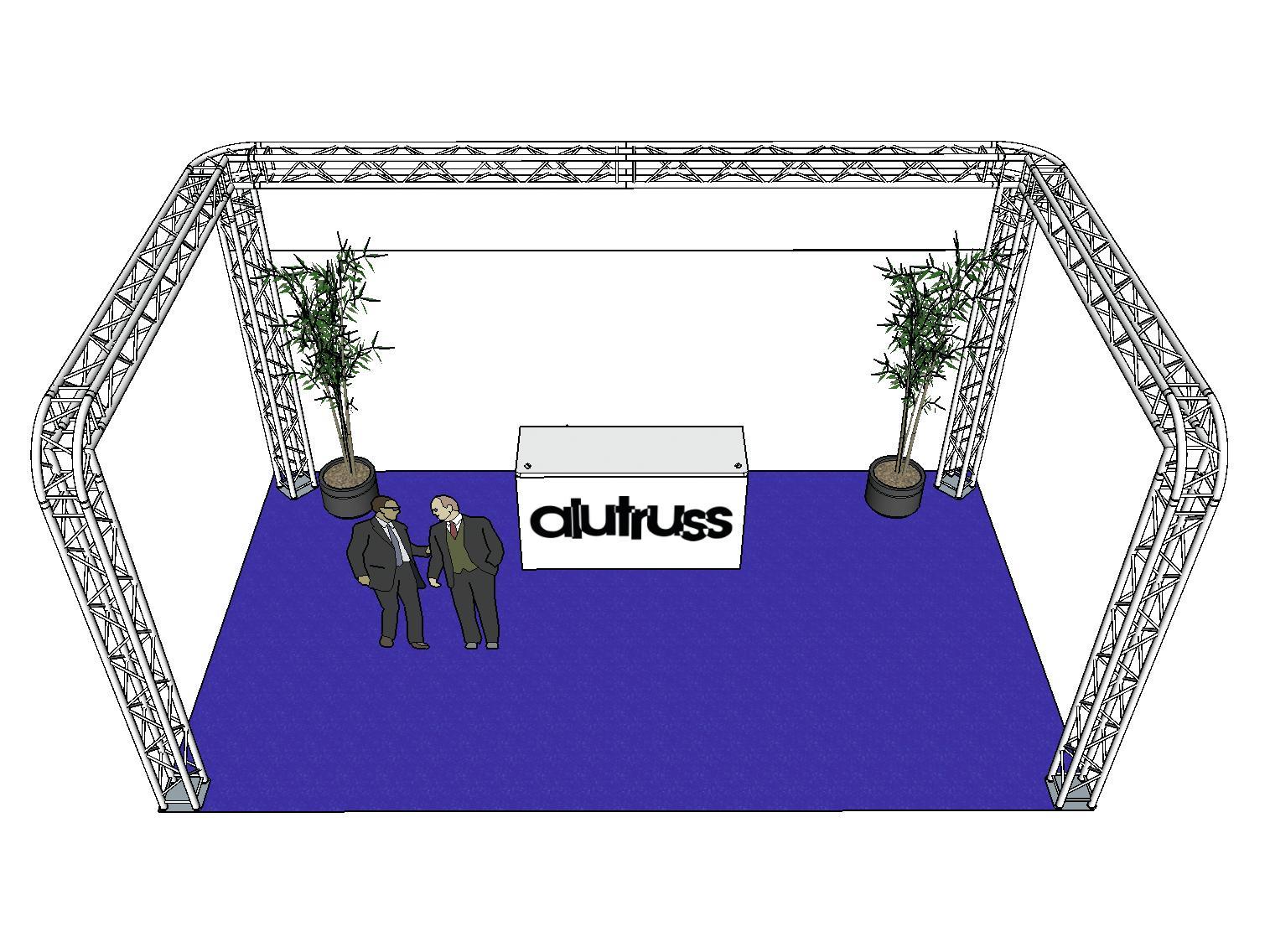 ALUTRUSS Traversenset QUADLOCK 6082R U-Form 7x4x3,5m (BxTxH)