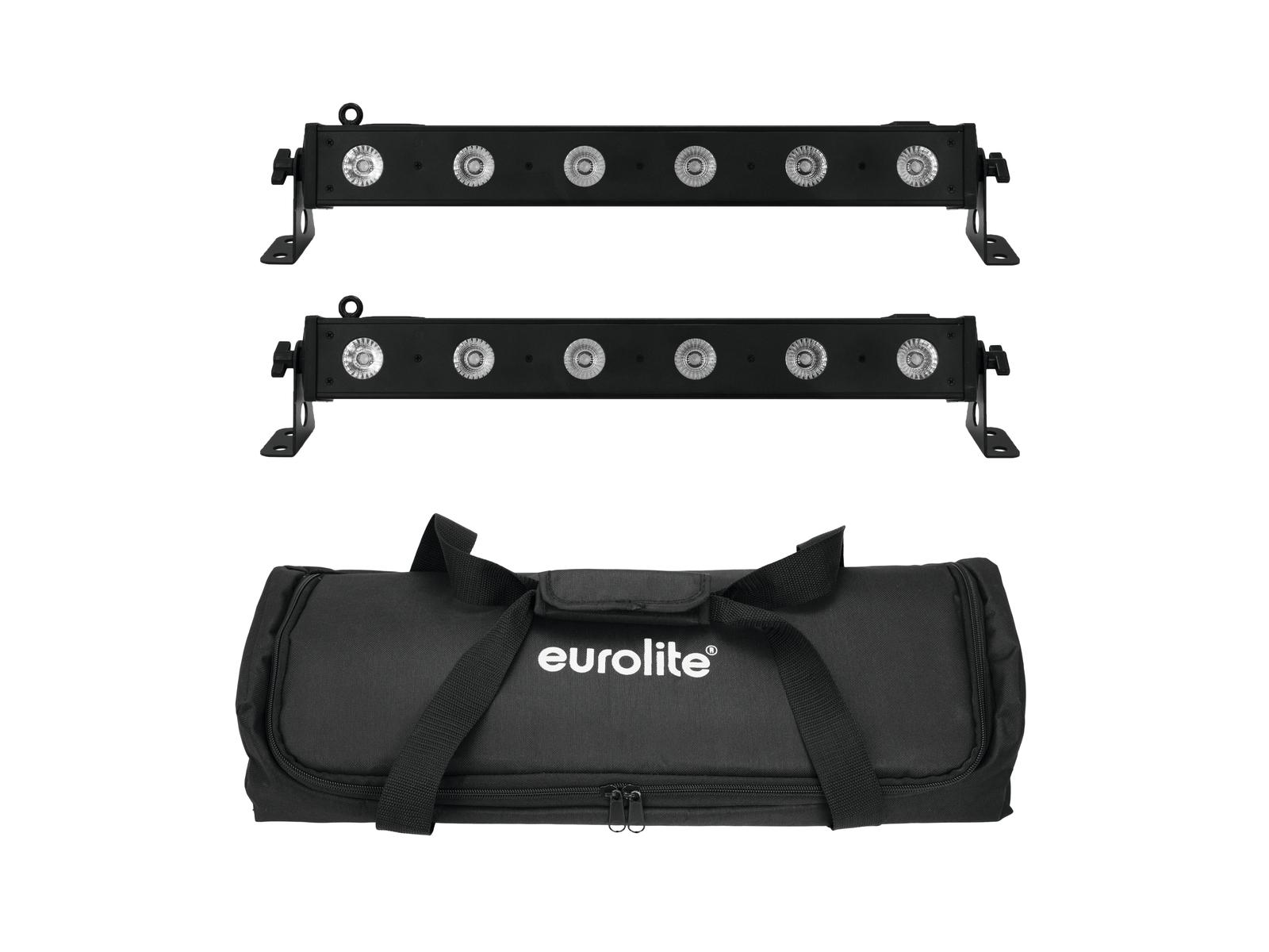 EUROLITE Set 2x LED BAR-6 QLC RGBW + Borsa Morbida