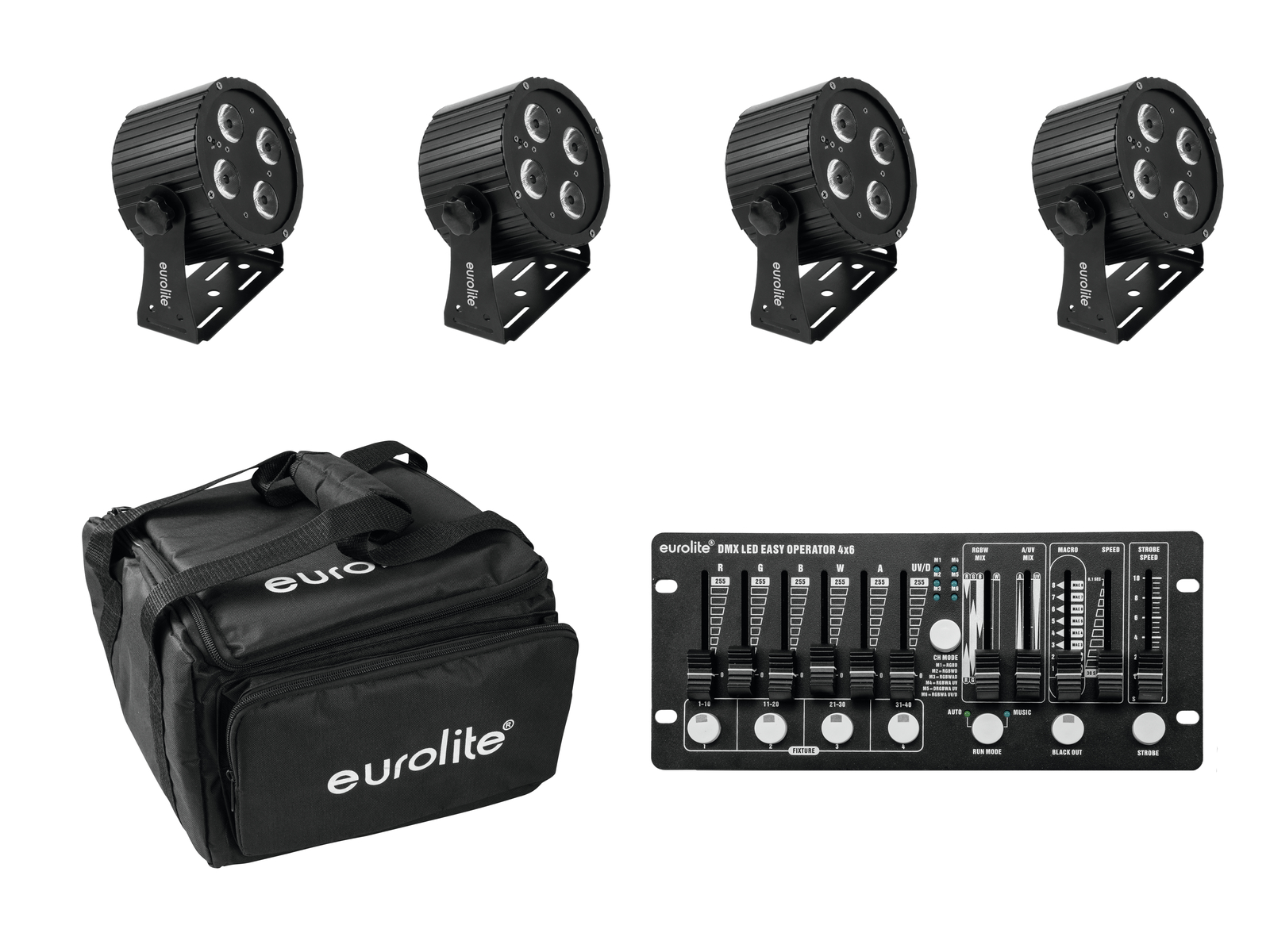 EUROLITE Set 4x LED PS-4 HCL +