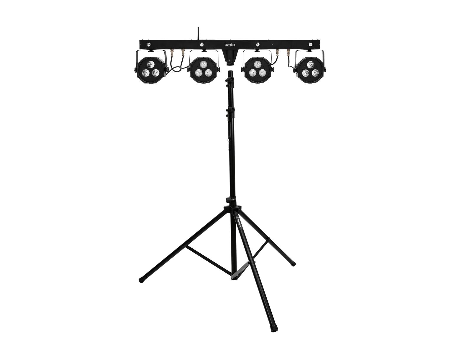 EUROLITE Set LED KLS-170 Kompakt-Lichtset + M-4 Boxenhochständer