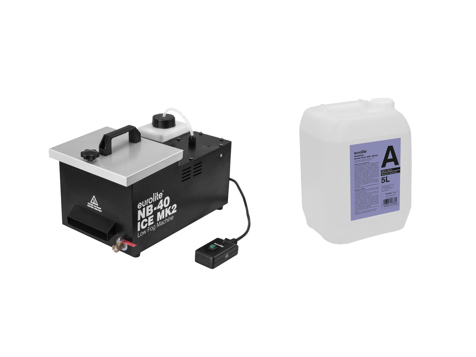 EUROLITE Set NB-40 MK2 + Smoke Fluid -A2D - 5l