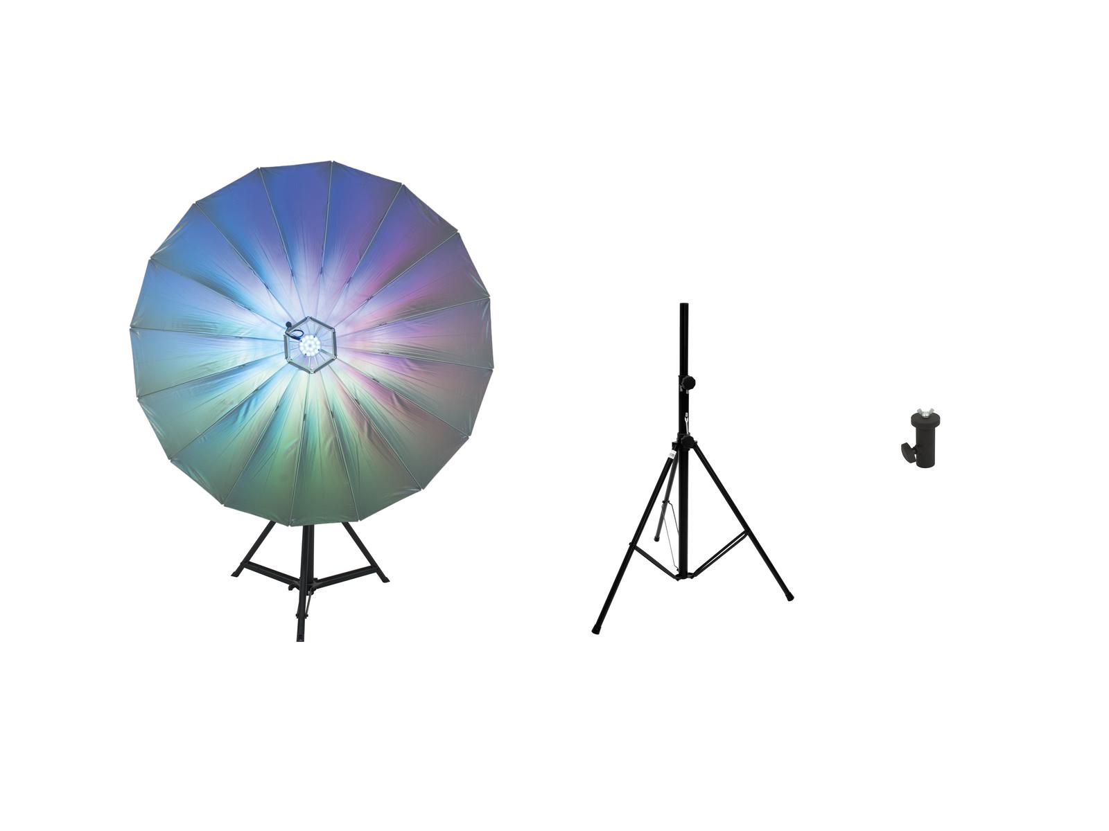 EUROLITE Set LED Umbrella 140 + BS-2 EU